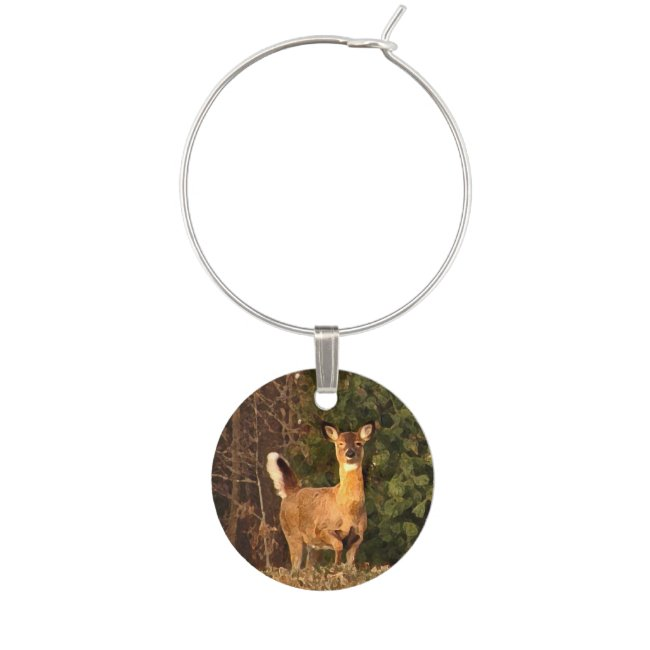 Deer at Sunrise Wine Charm