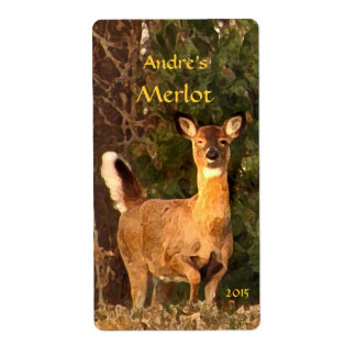 Deer at Sunrise Wine Label