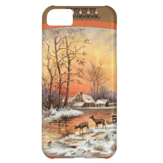 Deer at sunset cover for iPhone 5C