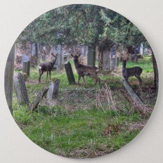 Deer At Zentralfriedhof Pinback Button