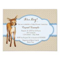 Deer Baby Shower Card