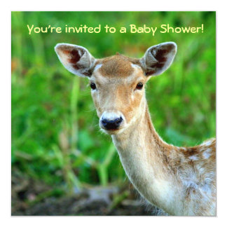 Deer Baby Shower Invitations