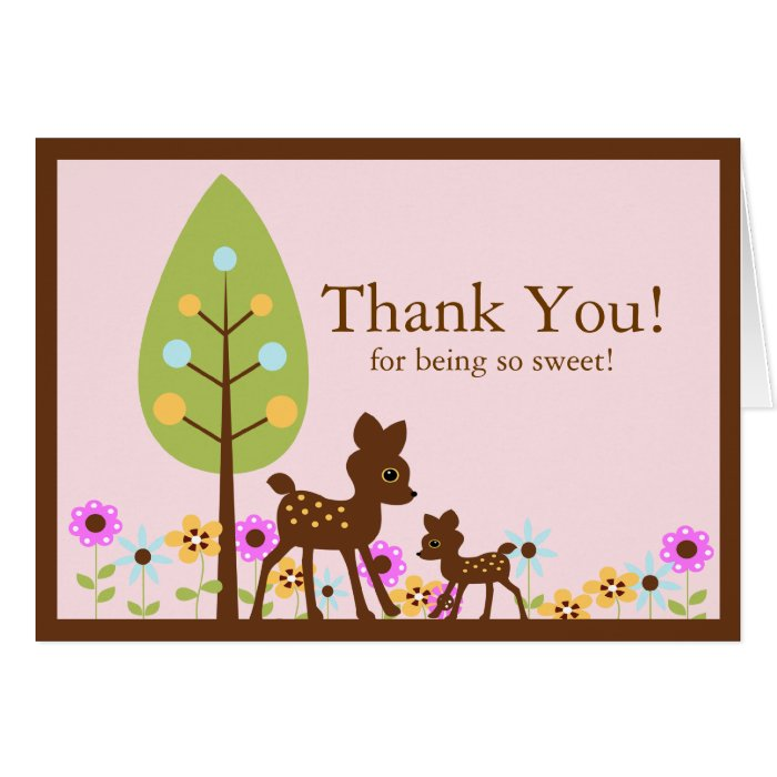 deer baby shower thank you note card zazzle