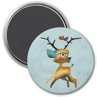 Deer Bambi Venado Woodland Forest Aqua Magnet