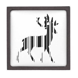DEER BAR CODE Stag Barcode Pattern Design Jewelry Box