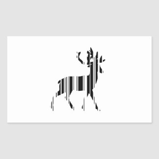 DEER BAR CODE Stag Barcode Pattern Design Rectangular Sticker