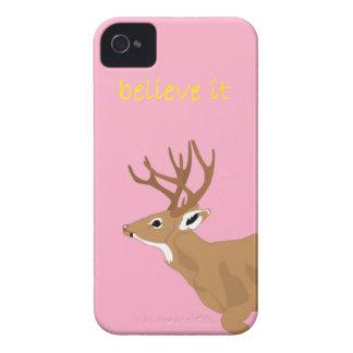 Deer belive it iPhone 5 case iPhone 4 Cárcasa