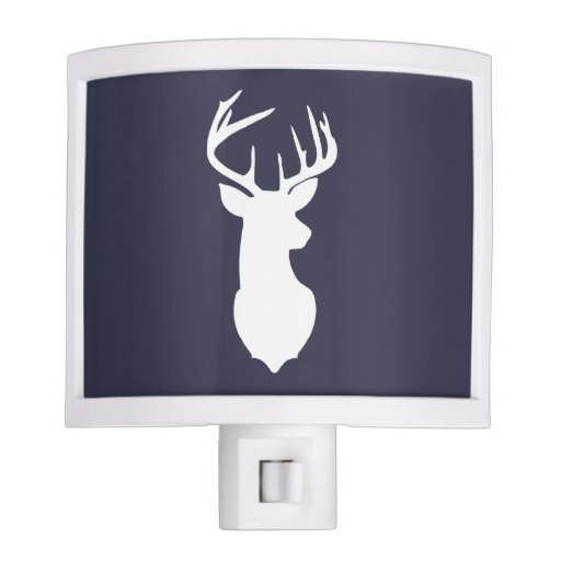 Deer Buck Head Night Light - Navy Blue