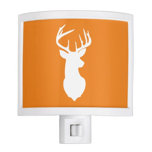 Deer Buck Head Night Light - Orange