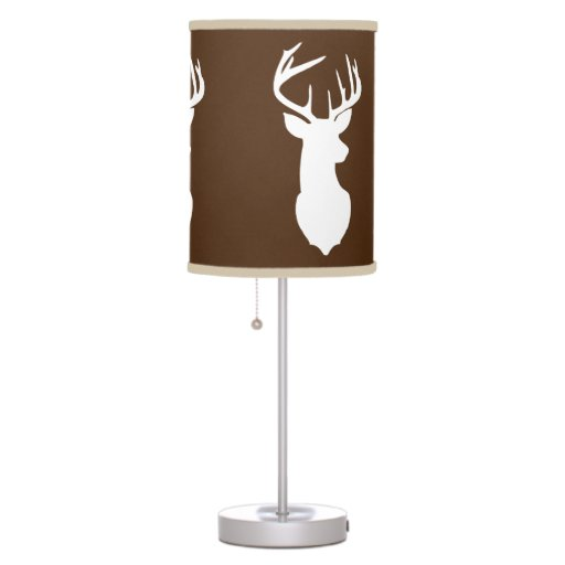 Deer Buck Hunter Nursery Lamp Brown/Khaki Trim