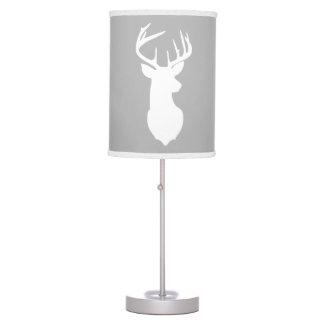 Deer Buck Hunter Nursery Lamp Gray/White Trim