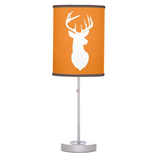 Deer Buck Hunter Nursery Lamp Orange/Brown Trim