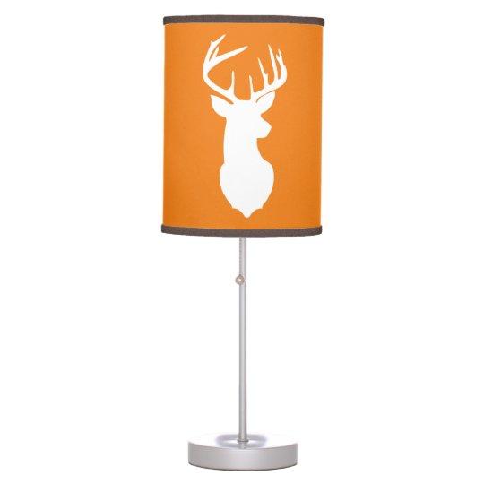 Deer Buck Hunter Nursery Lamp Orange/Brown Trim