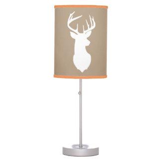 Deer Buck Hunter Nursery Lamp Tan / Orange Trim