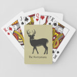 """Deer, Buck in Black Christmas Cards<br><div class=""""desc"""">Here&#39;s a perfect stocking stuffer for those that like to enjoy friends and family during the holidays playing card games. Great for family or friends,  teacher,  coworker. Personalize it for that special someone.</div>"""