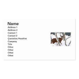 Deer Buck in Snow in Winter Business Card Template