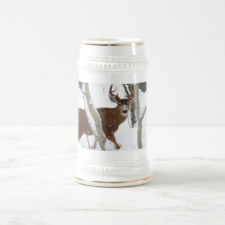 Deer Buck in Snow Photograph Mug