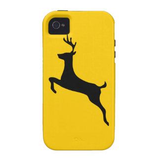 Deer buck stag antlers silhouette iPhone 4 4S iPhone 4 Cover