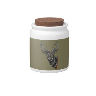 Deer Buck with Intricate Design Candy Dishes