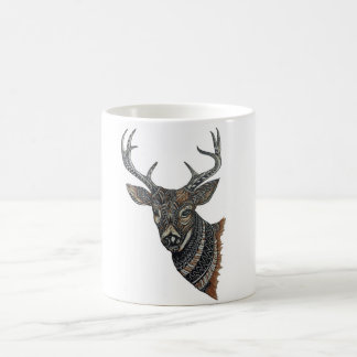 Deer Buck with Intricate Design Coffee Mug