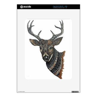 Deer Buck with Intricate Design. Decal For iPad