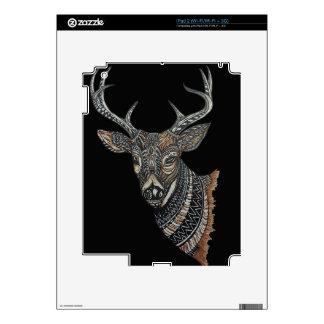 Deer Buck with Intricate Design. iPad 2 Decals