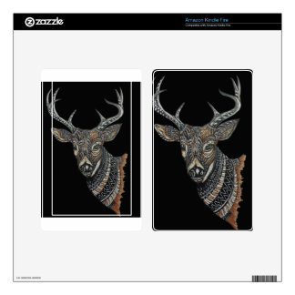 Deer Buck with Intricate Design Kindle Fire Skins