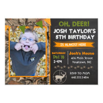 Deer Camo Hunting Birthday Invitation