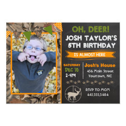 Hunting birthday invitations announcements zazzle deer camo hunting birthday invitation filmwisefo Images