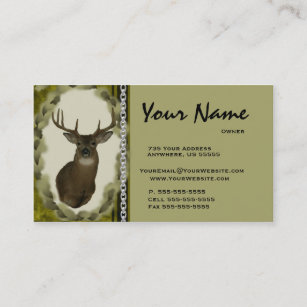 Taxidermy business cards templates zazzle deer chain taxidermy business cards brown colourmoves