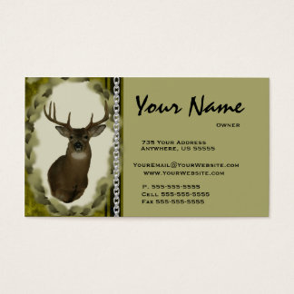 Deer  Chain Taxidermy Business Cards ~ Brown