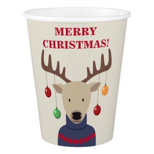Deer Christmas Paper Cup