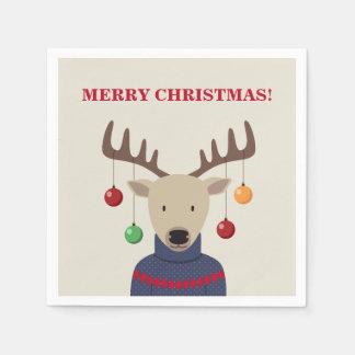 Deer Christmas Paper Napkin