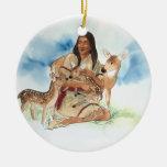 Deer Clan Mother Ceramic Ornament