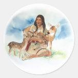 Deer Clan Mother Classic Round Sticker