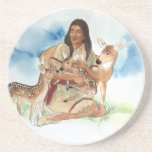 Deer Clan Mother Sandstone Coaster
