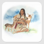 Deer Clan Mother Square Sticker