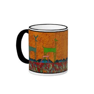 Deer Clan Ringer Coffee Mug