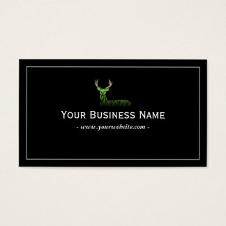 Deer Classic Framed Plain Black Professional Business Card