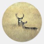 Deer Classic Round Sticker