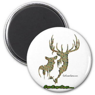 Deer Collection by GulfCoastCamo 2 Inch Round Magnet