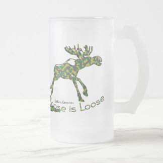 Deer Collection by GulfCoastCamo Frosted Glass Beer Mug