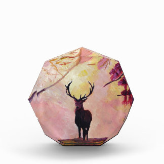 Deer coming from the glade acrylic award
