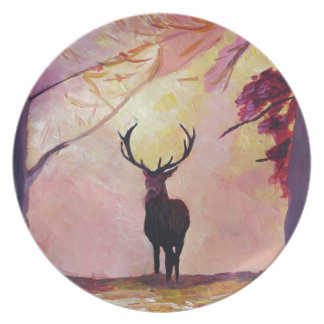 Deer coming from the glade plate