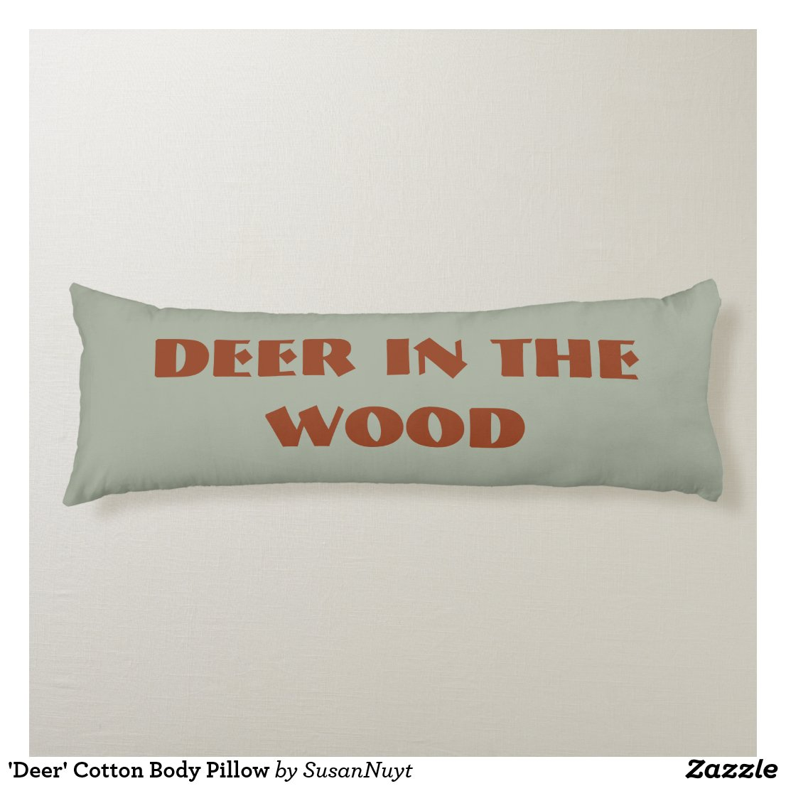 'Deer' Cotton Body Pillow