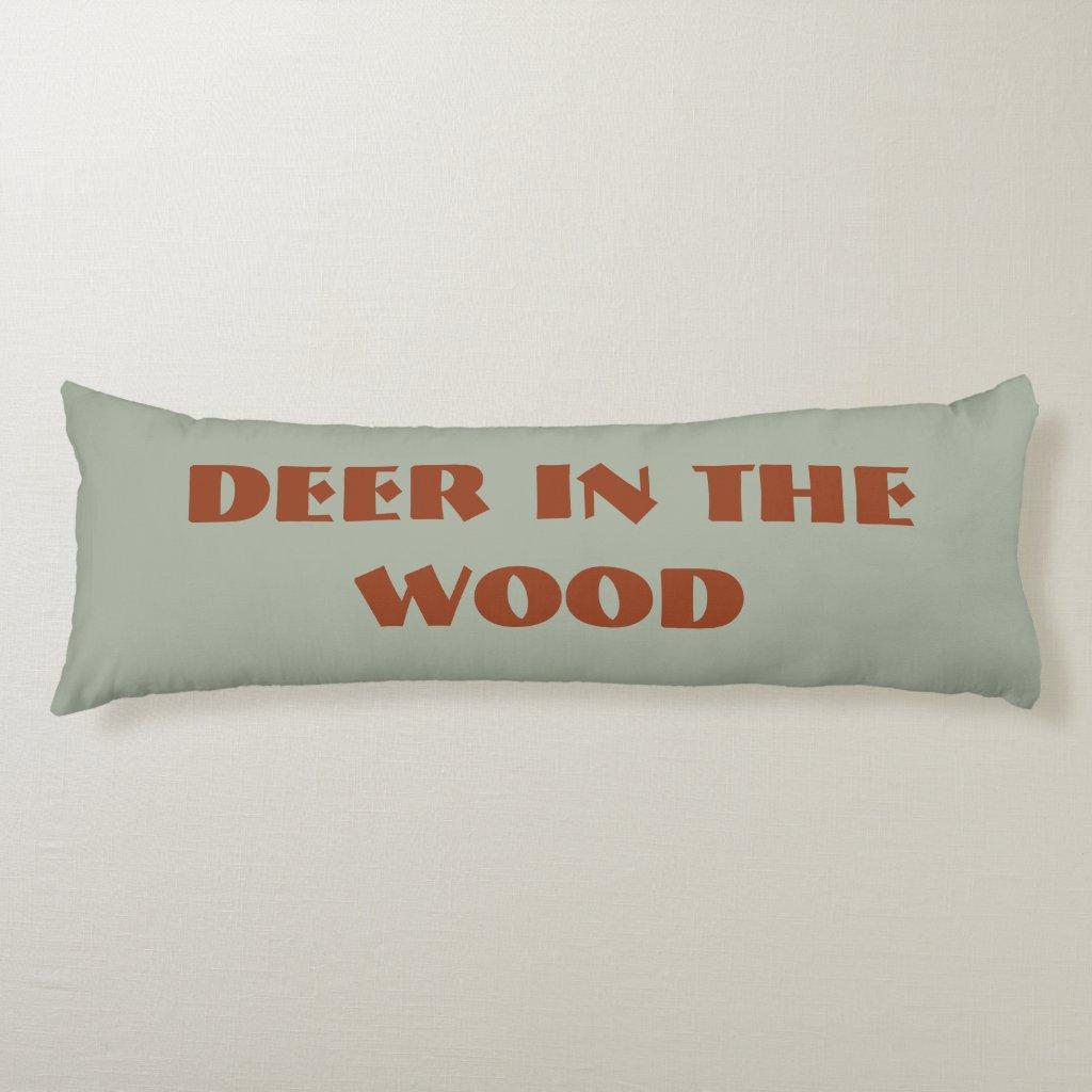 'Deer' Cotton Body Pillow