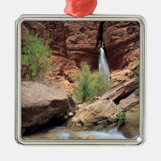 Deer Creek Falls , Grand Canyon National Park , Square Metal Christmas Ornament