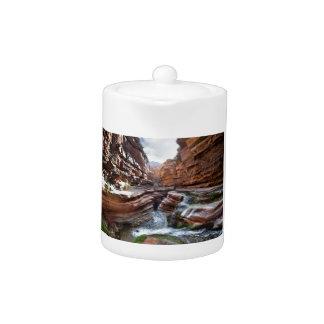 Deer Creek Narrows Waterfalls - Grand Canyon Teapot
