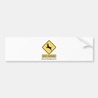 deer crossing bumper sticker