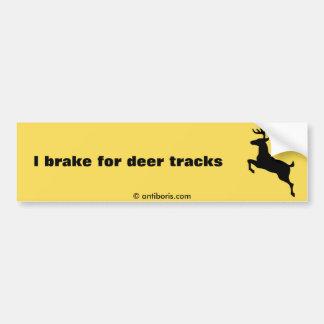 Deer Crossing Car Bumper Sticker